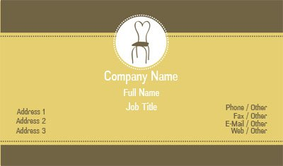 Brown and Yellow Event Planning Business Card Template